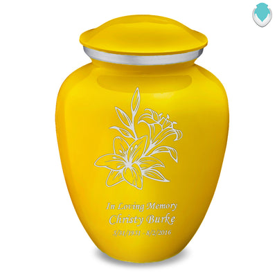 Adult Embrace Yellow Lily Cremation Urn