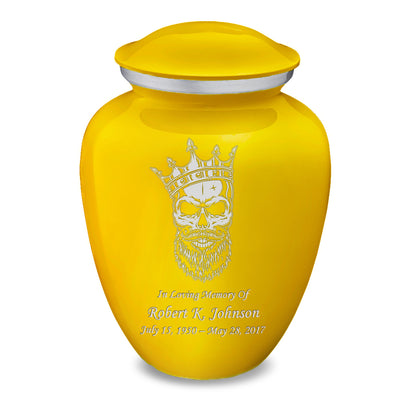 Adult Embrace Yellow Skull Cremation Urn