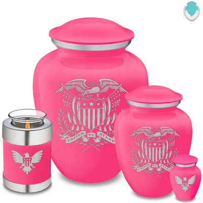 Medium Embrace Bright Pink American Glory Cremation Urn