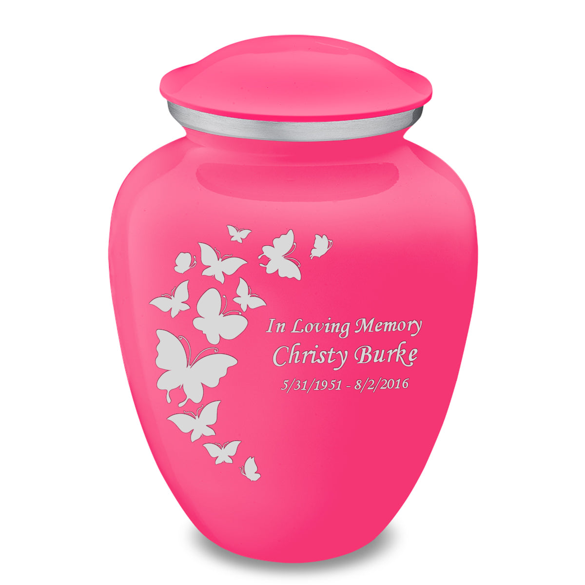 Adult Embrace Bright Pink Butterfly Cremation Urn