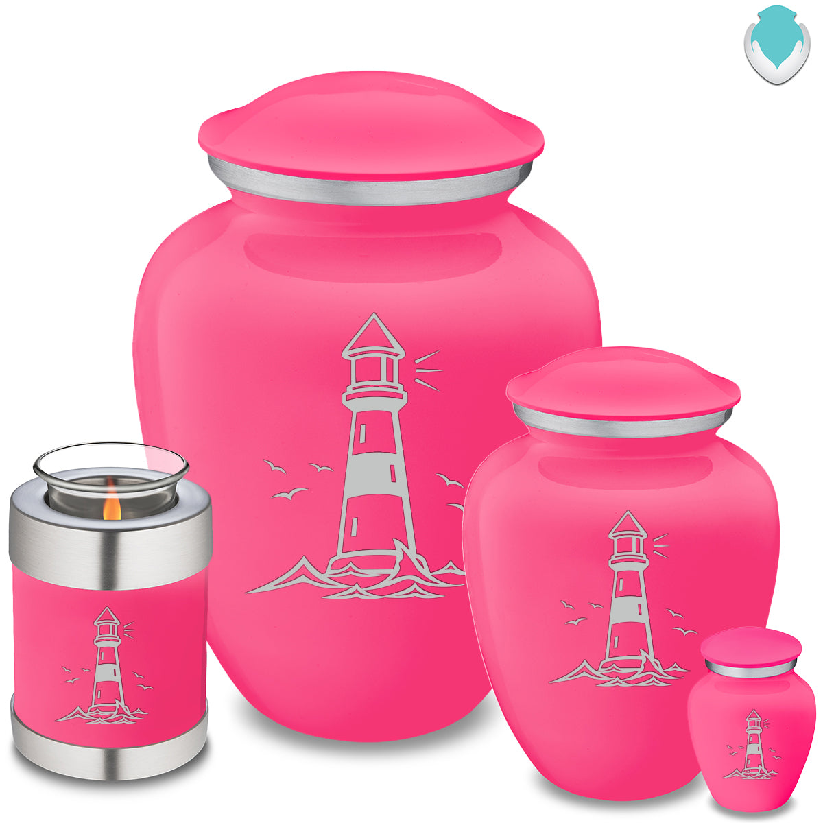 Adult Embrace Bright Pink Lighthouse Cremation Urn