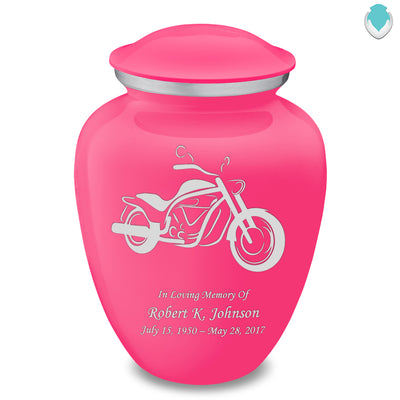 Adult Embrace Bright Pink Motorcycle Cremation Urn