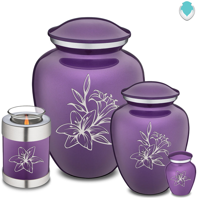 Adult Embrace Purple Lily Cremation Urn