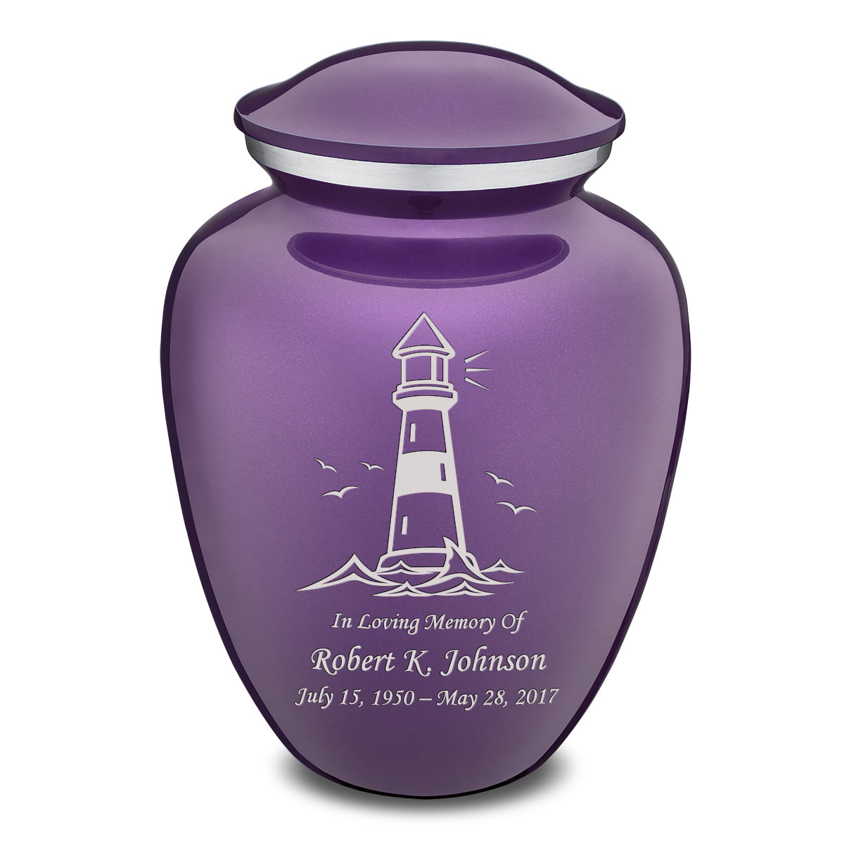 Adult Embrace Purple Lighthouse Cremation Urn