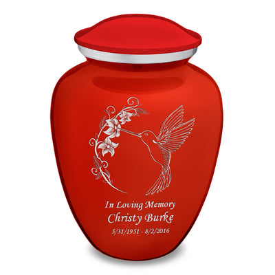 Adult Embrace Bright Red Hummingbird Cremation Urn