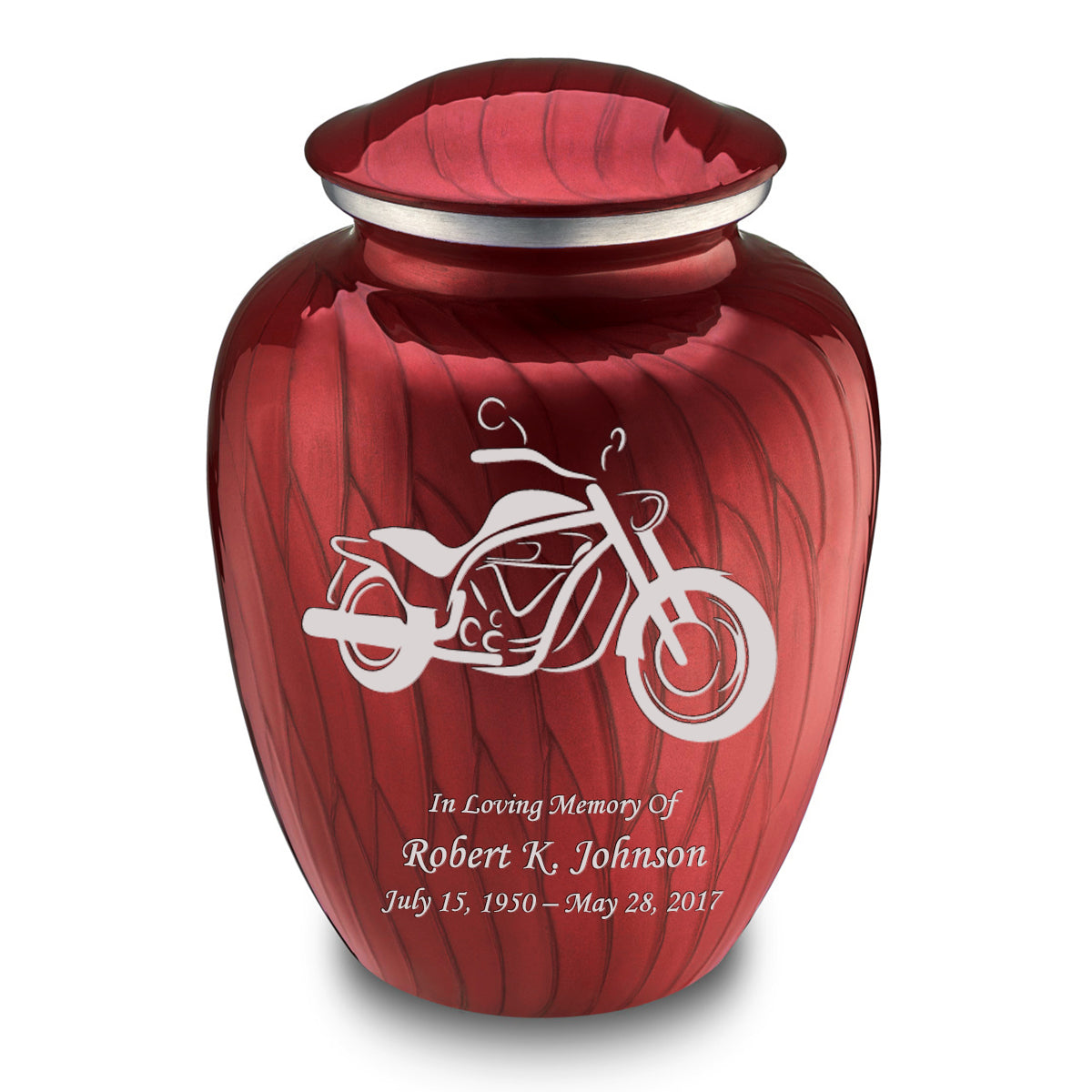 Adult Embrace Pearl Candy Red Motorcycle Cremation Urn