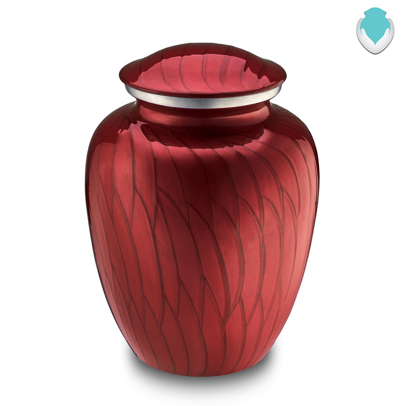 Adult Embrace Pearl Candy Red Cremation Urn