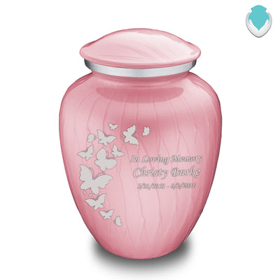 Adult Embrace Pearl Pink Butterfly Cremation Urn