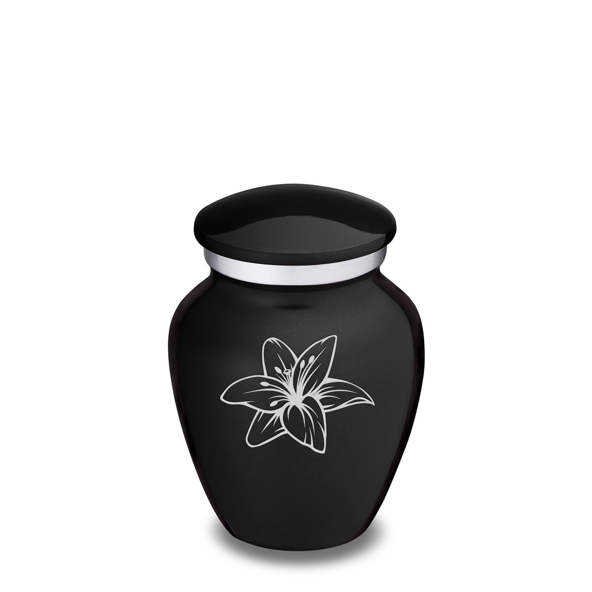 Keepsake Embrace Black Lily Cremation Urn