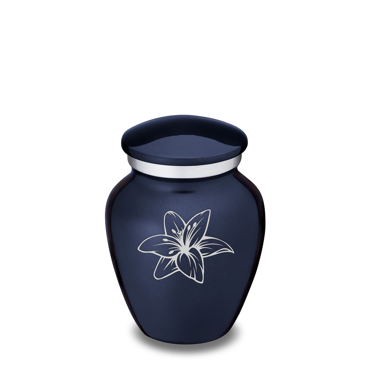 Keepsake Embrace Cobalt Lily Cremation Urn