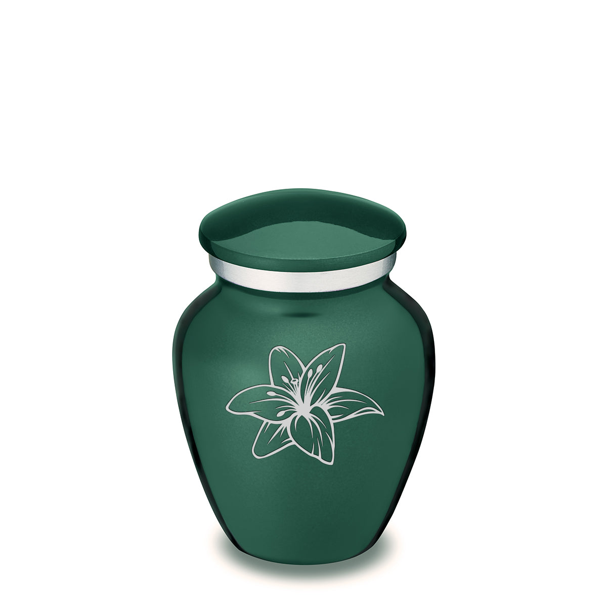 Keepsake Embrace Green Lily Cremation Urn