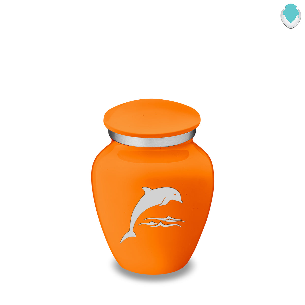 Keepsake Embrace Burnt Orange Dolphin Cremation Urn