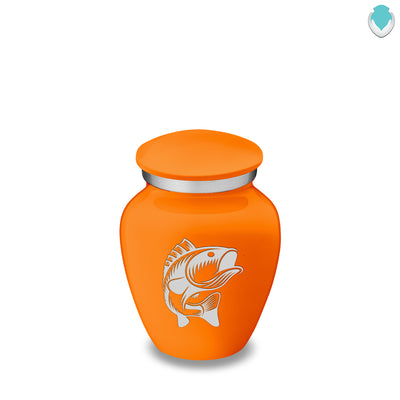 Keepsake Embrace Burnt Orange Fish Cremation Urn
