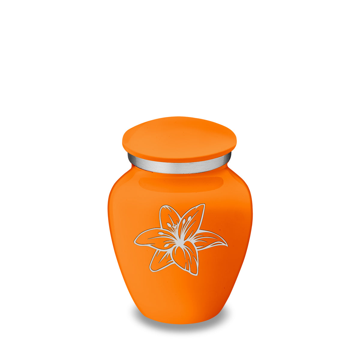 Keepsake Embrace Burnt Orange Lily Cremation Urn