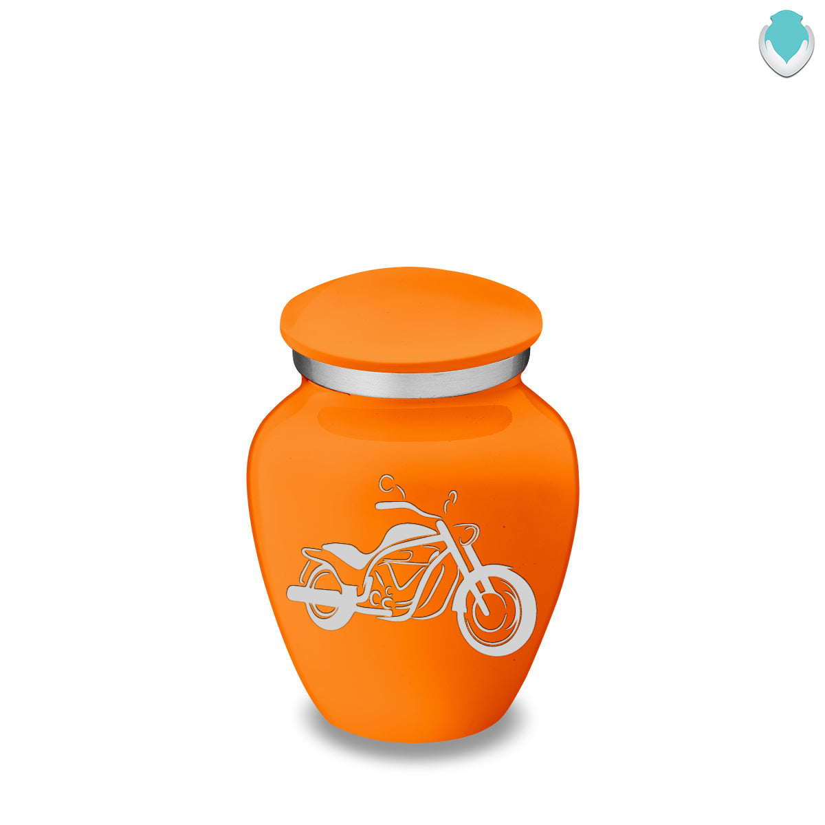Keepsake Embrace Burnt Orange Motorcycle Cremation Urn