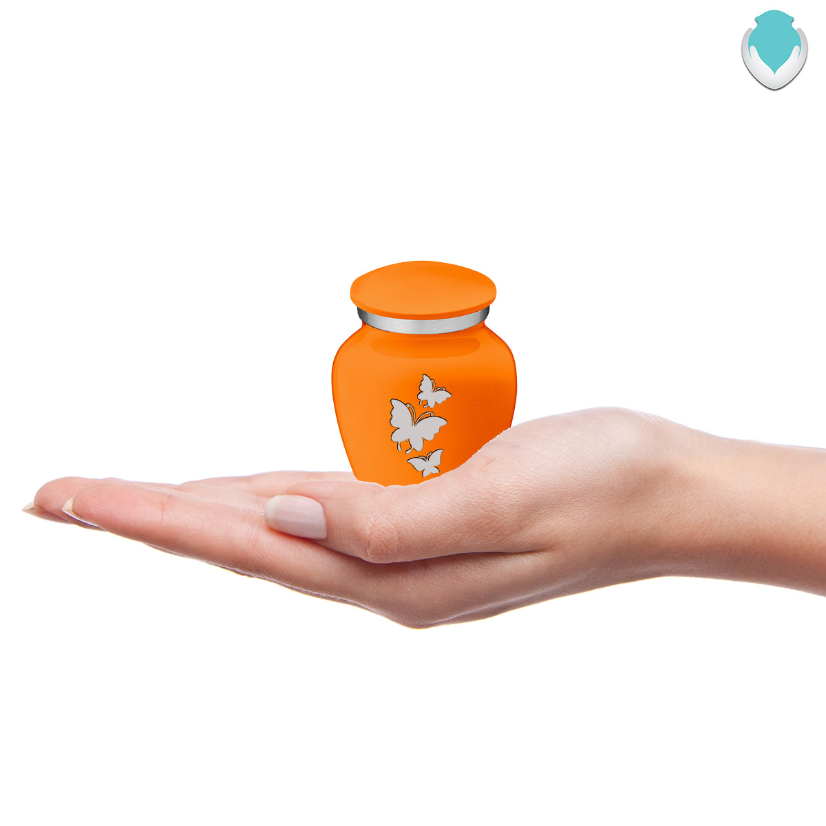 Keepsake Embrace Burnt Orange Butterflies Cremation Urn