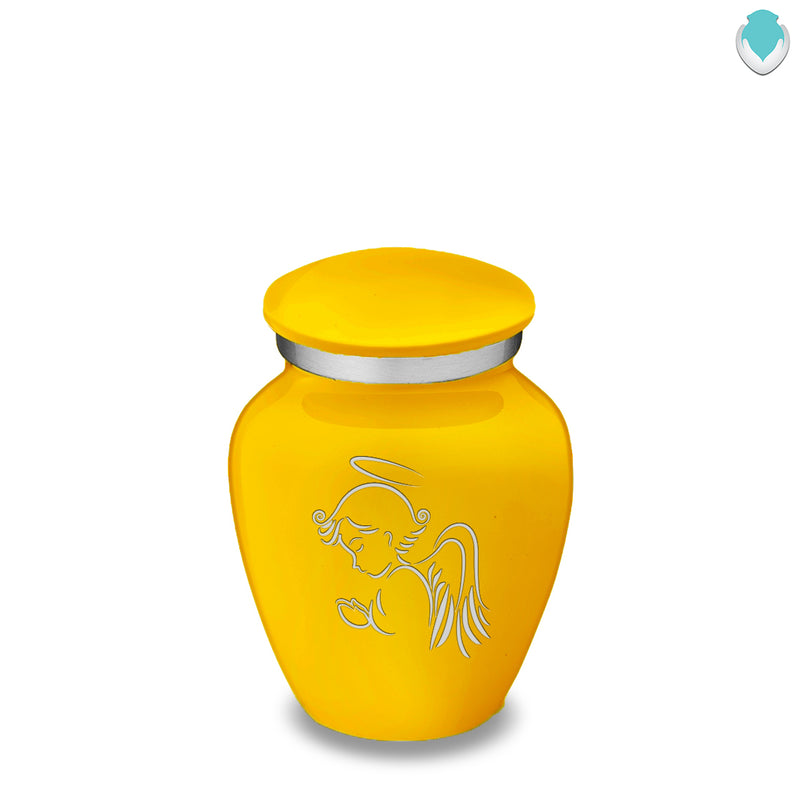 Keepsake Embrace Yellow Angel Cremation Urn
