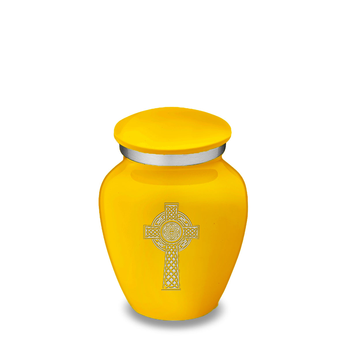 Keepsake Embrace Yellow Celtic Cross Cremation Urn
