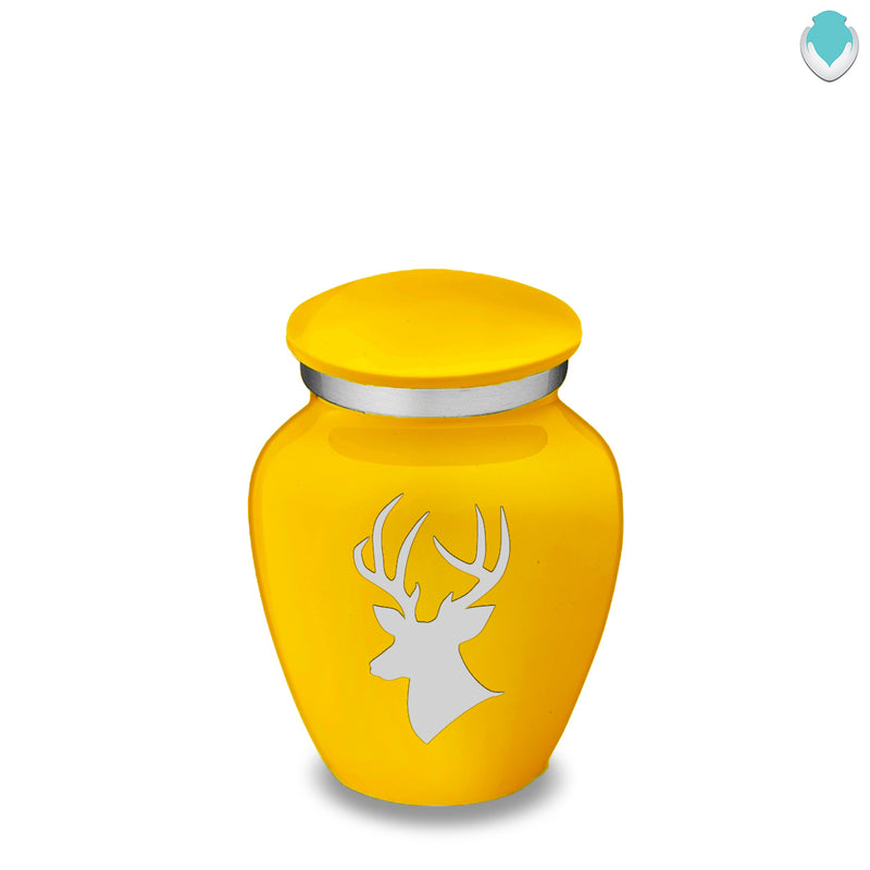 Keepsake Embrace Yellow Deer Cremation Urn