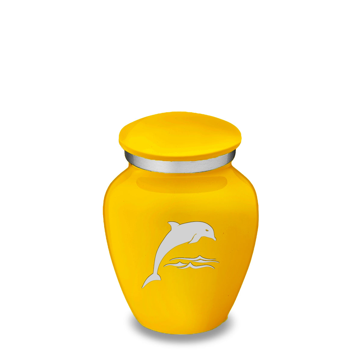 Keepsake Embrace Yellow Dolphin Cremation Urn