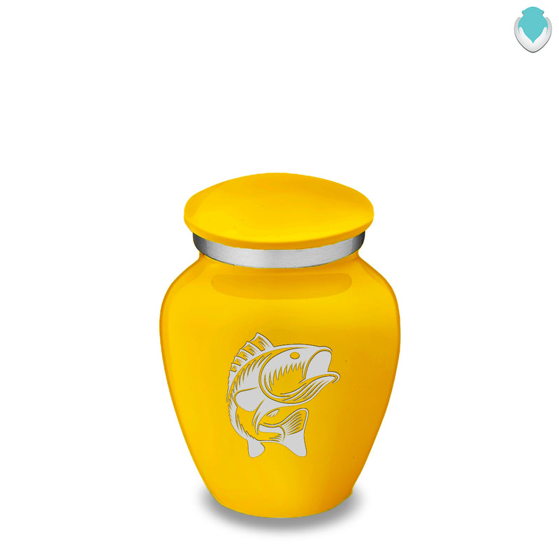 Keepsake Embrace Yellow Fish Cremation Urn