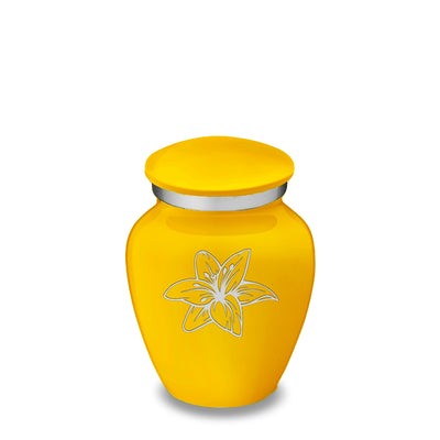 Keepsake Embrace Yellow Lily Cremation Urn