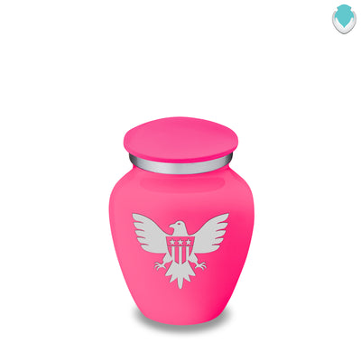 Keepsake Embrace Bright Pink American Glory Cremation Urn