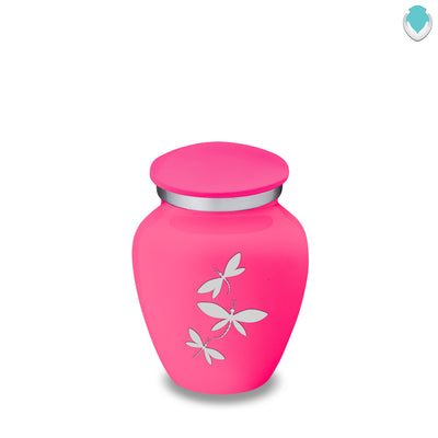 Keepsake Embrace Bright Pink Dragonflies Cremation Urn