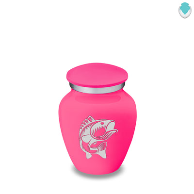Keepsake Embrace Bright Pink Fish Cremation Urn
