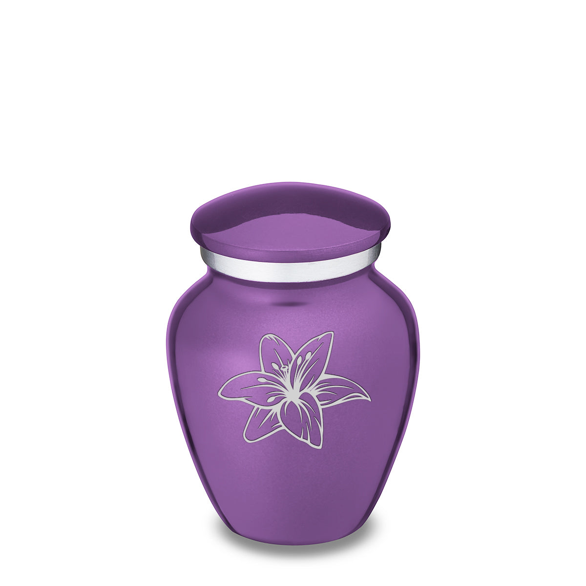 Keepsake Embrace Purple Lily Cremation Urn