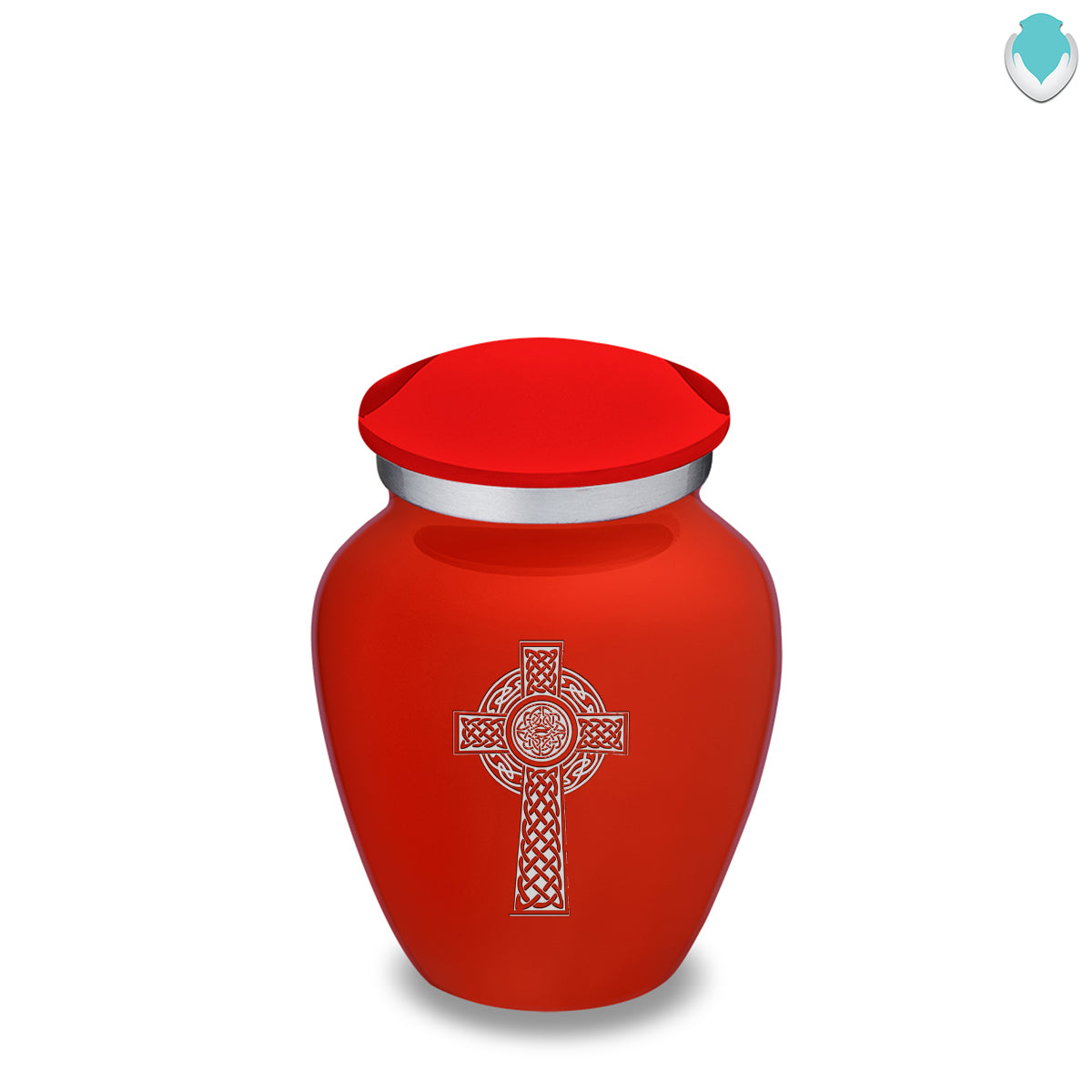 Keepsake Embrace Bright Red Celtic Cross Cremation Urn