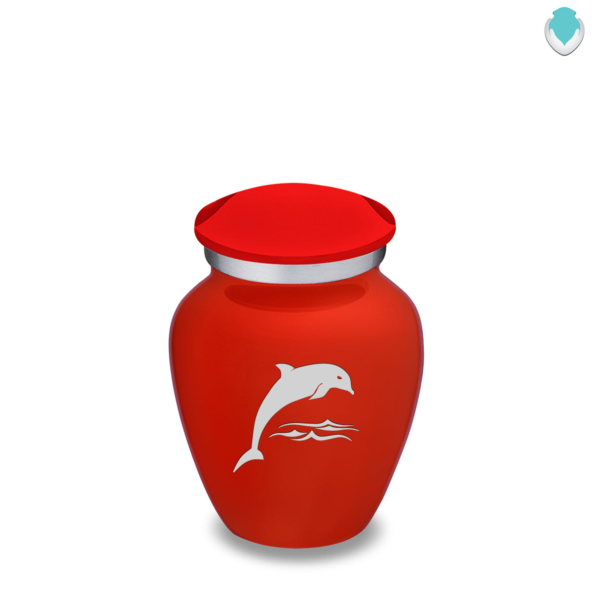 Keepsake Embrace Bright Red Dolphin Cremation Urn