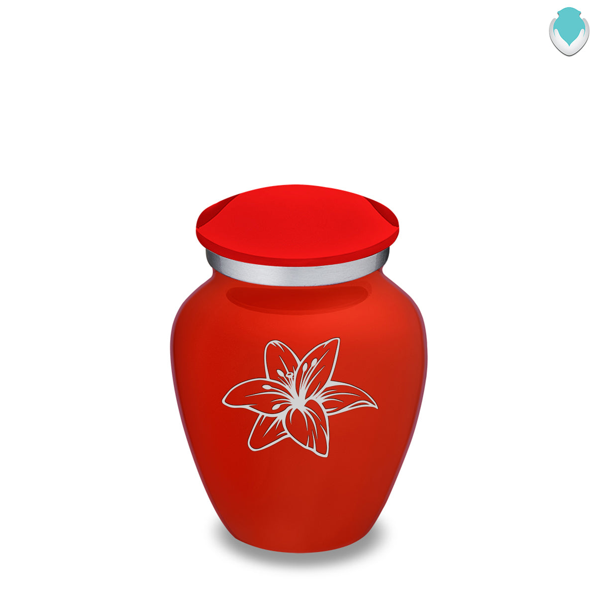 Keepsake Embrace Bright Red Lily Cremation Urn