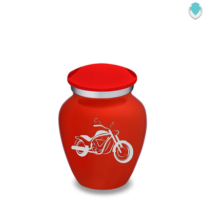 Keepsake Embrace Bright Red Motorcycle Cremation Urn