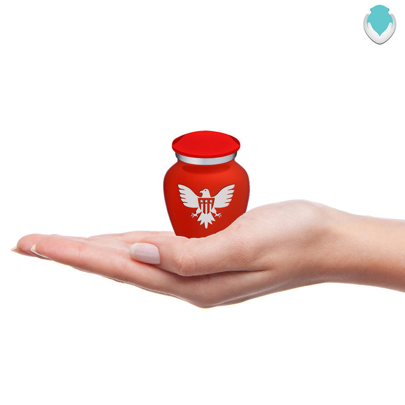 Keepsake Embrace Bright Red American Glory Cremation Urn
