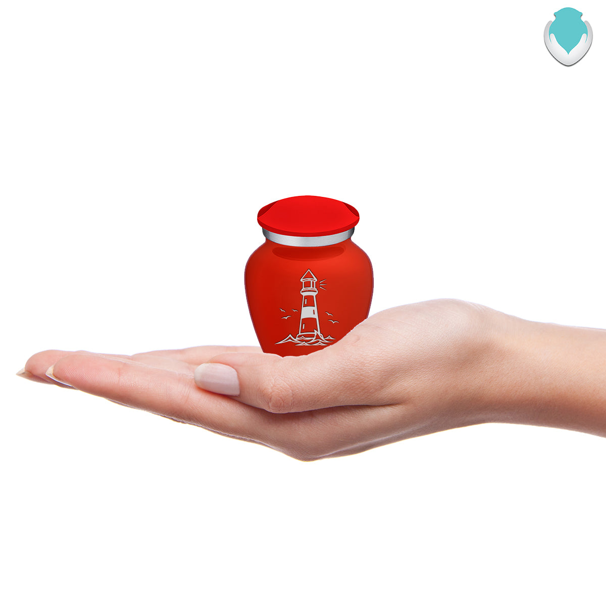 Keepsake Embrace Bright Red Lighthouse Cremation Urn