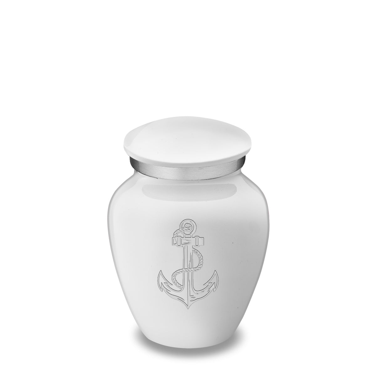 Keepsake Embrace White Anchor Cremation Urn