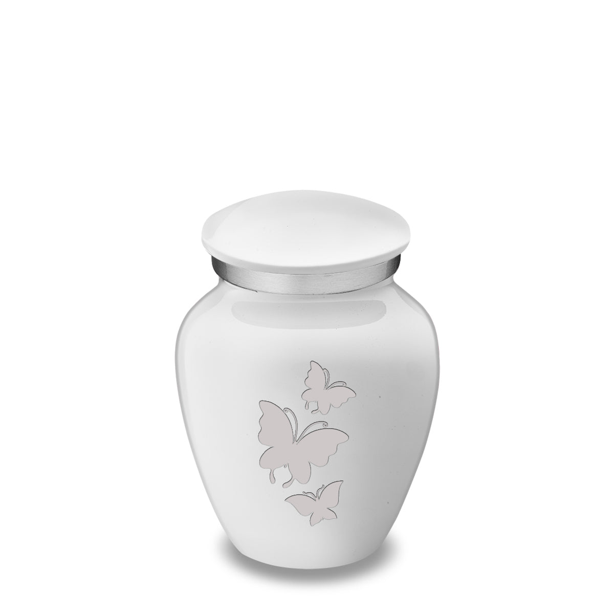 Keepsake Embrace White Butterflies Cremation Urn
