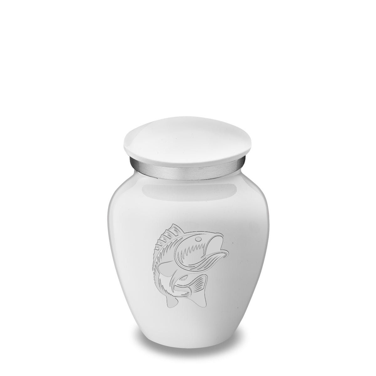 Keepsake Embrace White Fish Cremation Urn