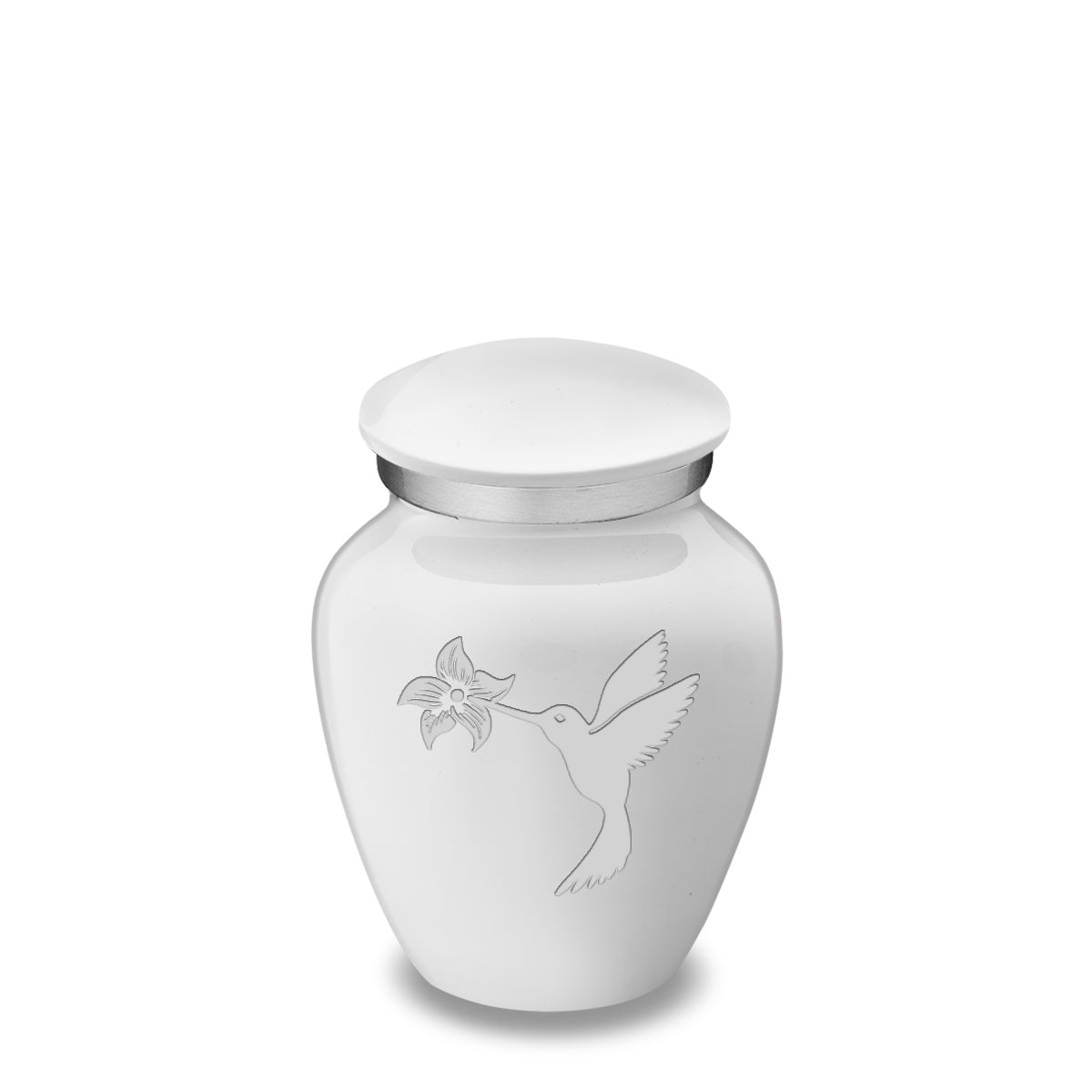 Keepsake Embrace White Hummingbird Cremation Urn