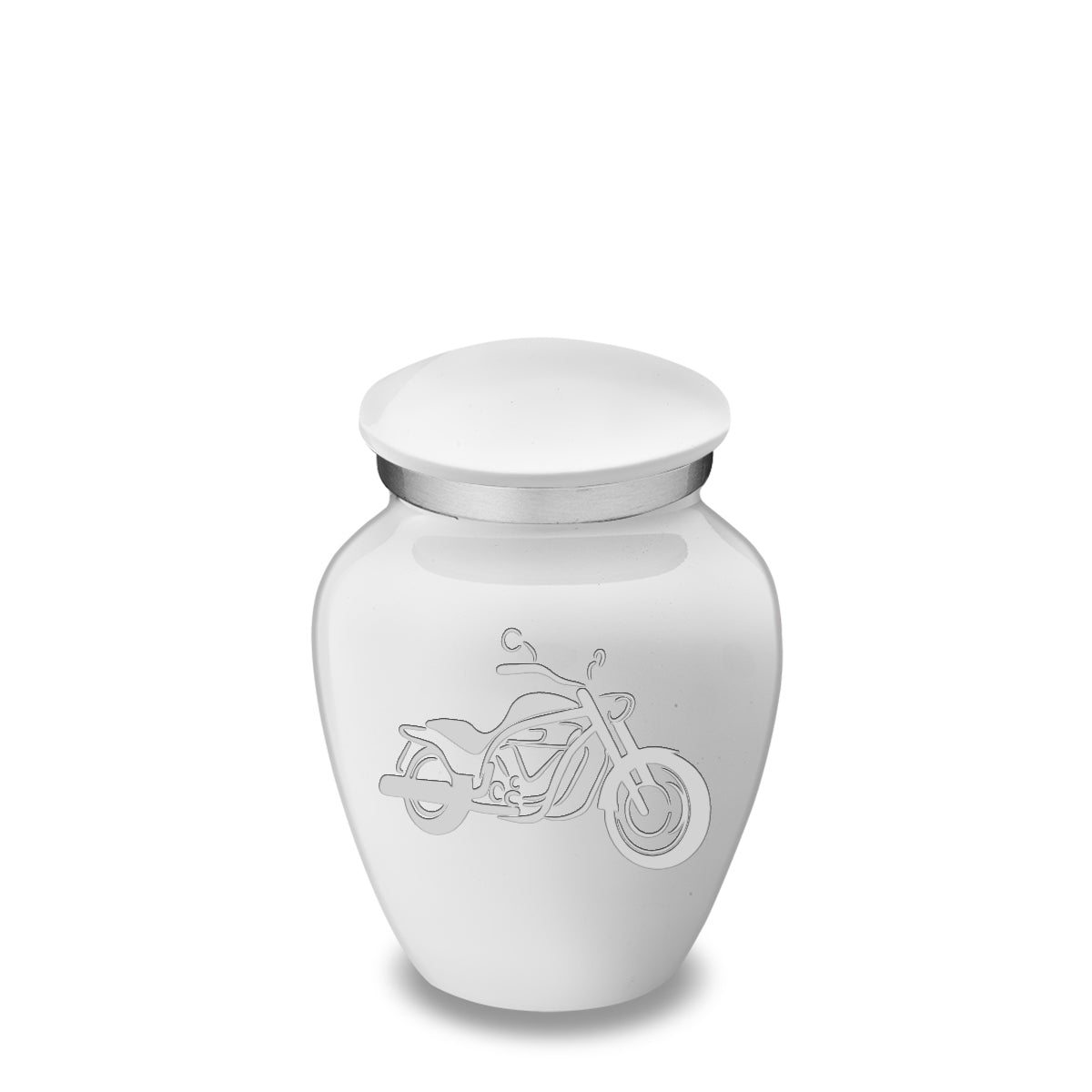 Keepsake Embrace White Motorcycle Cremation Urn