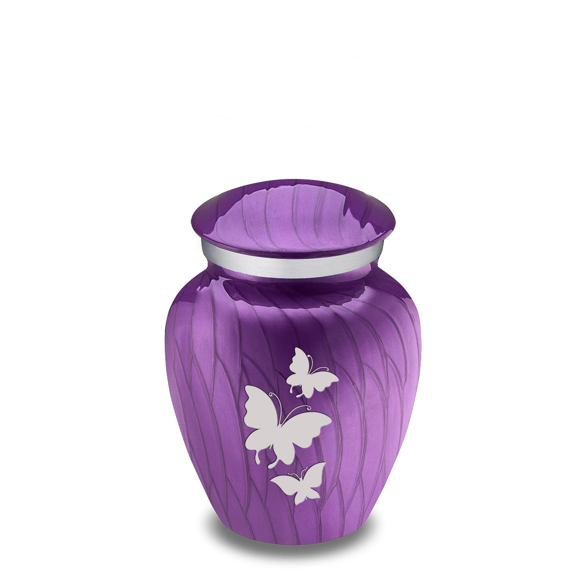 Keepsake Embrace Pearl Purple Butterflies Cremation Urn