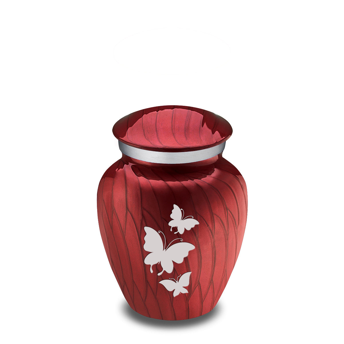 Keepsake Embrace Pearl Candy Red Butterflies Cremation Urn