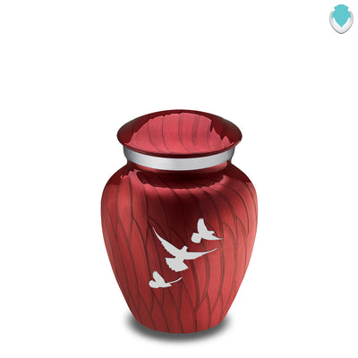 Keepsake Embrace Pearl Candy Red Doves Cremation Urn