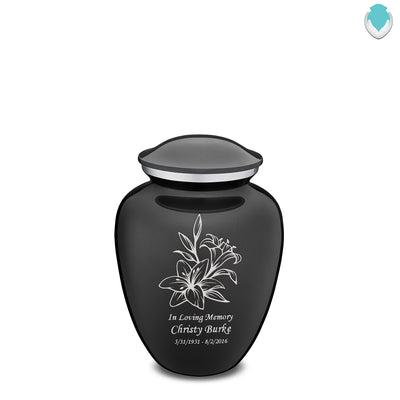 Medium Embrace Charcoal Lily Cremation Urn