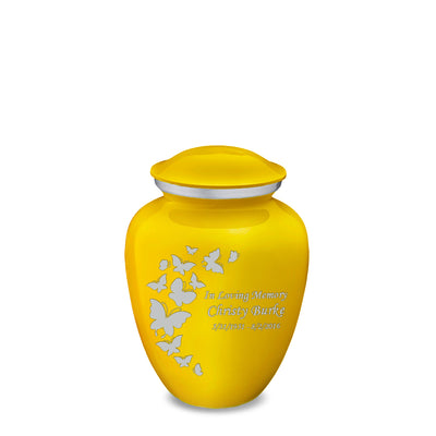 Medium Embrace Yellow Butterfly Cremation Urn