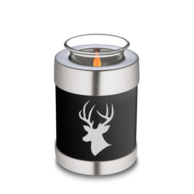 Candle Holder Embrace Black Deer Cremation Urn