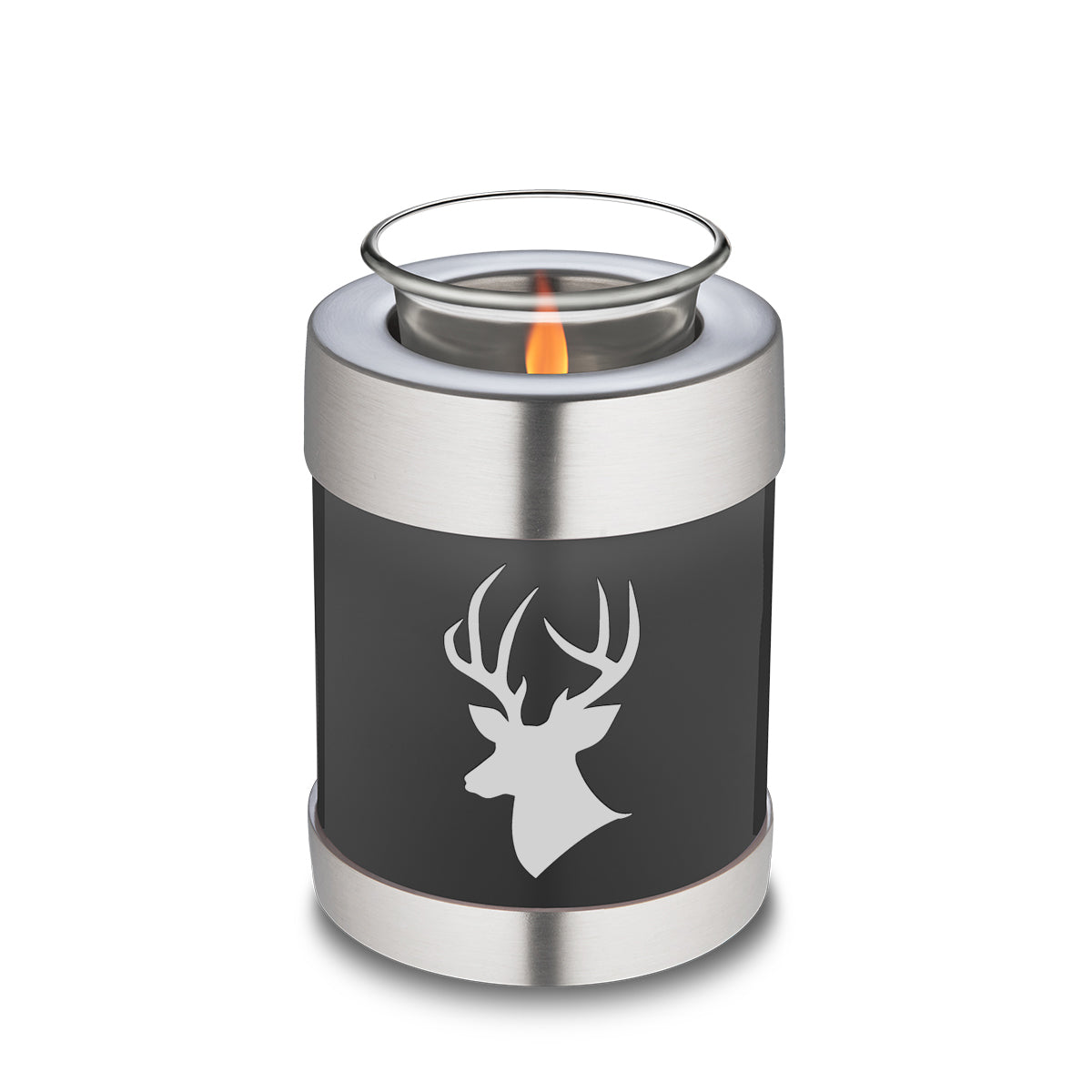 Candle Holder Embrace Charcoal Deer Cremation Urn