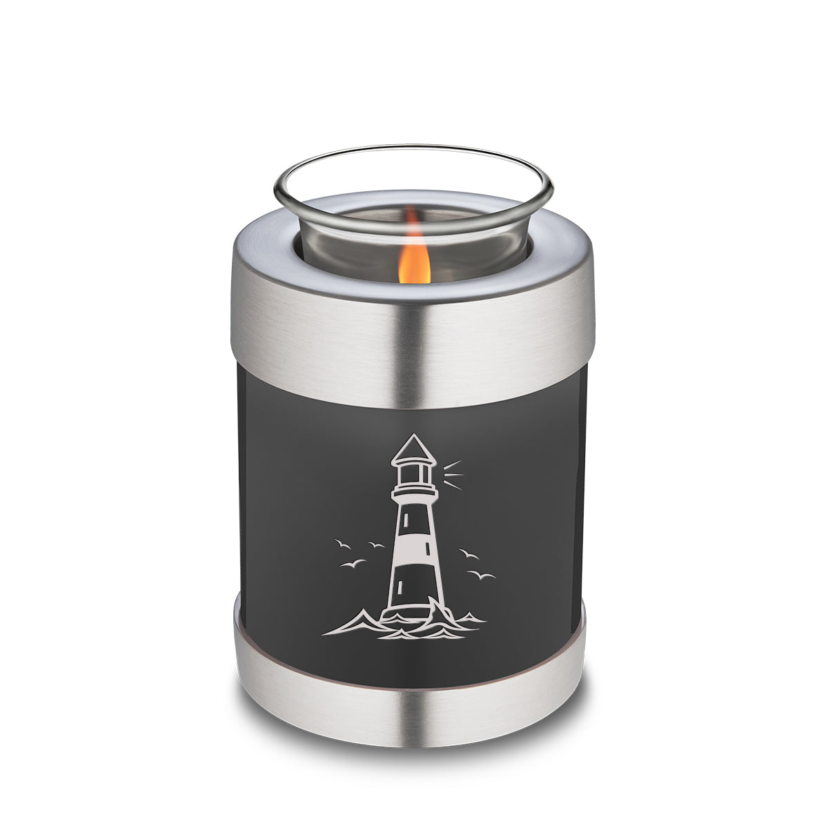 Candle Holder Embrace Charcoal Lighthouse Cremation Urn
