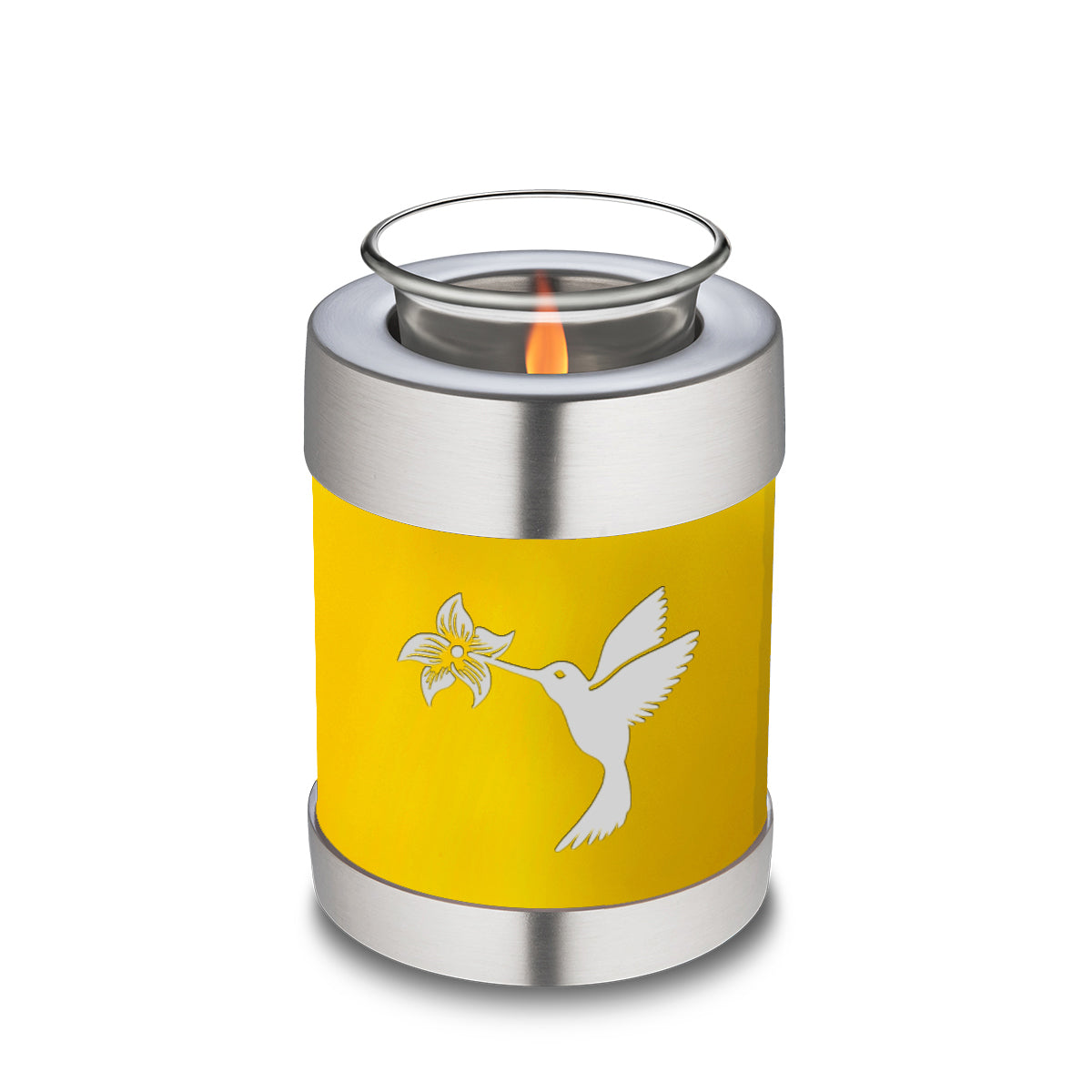 Candle Holder Embrace Yellow Hummingbird Cremation Urn